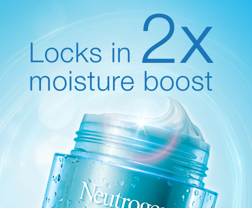 Neutrogena® Locks in 2x moisture boost